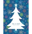 colorful doodle snowflakes Christmas tree vector image