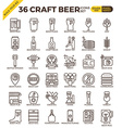 Craft Beer icons vector image