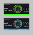 gift voucher template with colorful pattern vector image