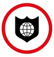 Global Shield Flat Rounded Icon vector image