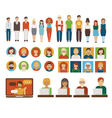 People business characters set vector image
