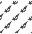 shooting star seamless pattern vector image