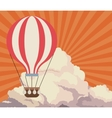 sky sunset clouds airballoon travel retro vector image