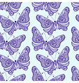 Zentangle stylized Butterfly seamless pattern Hand vector image