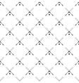 Crossed baseball bats and ball pattern vector image