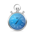 Blue stopwatch vector image