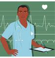 Doctor or male nurse vector image