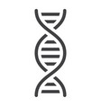 dna solid icon science and biology vector image