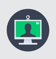 video call icon web camera and desktop vector image