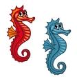 Funny seahorse vector image vector image