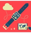 Modern Gadgets And Watches vector image