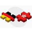 Germany and Hong Kong SAR China vector image