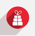 modern gift red circle icon vector image