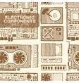 Components of desktop computer vector image