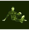 3D Model of Man Human Body 3d Covering Skin vector image vector image