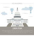 City buildings graphic template White house vector image