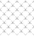 Crossed baseball bats and ball pattern vector image