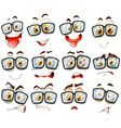 Facial expression with glasses vector image