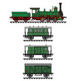 historical green steam train vector image