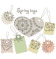 spring tags with floral patterns vector image
