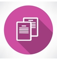 Two documents icon vector image