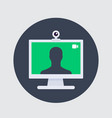 video call icon web camera and desktop vector image
