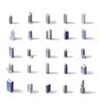 isometric skyscrapers set vector image