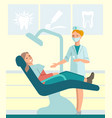dentist and patient vector image