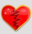 big red broken heart vector image
