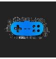 Drawing business formulas joystick vector image