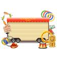 Circus Billboard vector image