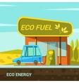 Ecological energy cartoon vector image