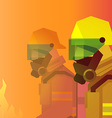 firefighter heroes vector image