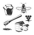 elements for honey vintage labels vector image