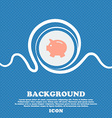 Piggy bank - saving money icon sign Blue and white vector image