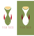 taco fish mexican food design template vector image