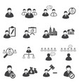business icons set leadership vector image