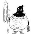 cartoon medieval fantasy executioner hangman with vector image