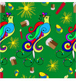 easter pattern with a birds vector image