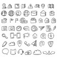 hand drawn contacts icon set hand drawn contacts vector image