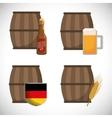 premium quality german beer vector image