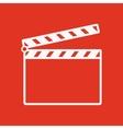 The clapper board icon Clapper Board symbol Flat vector image