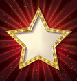 Gold star on a dark background vector image