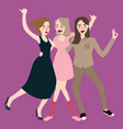 girls walking laughing together have fun vector image