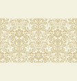 seamless damask pattern golden and ivory image vector image