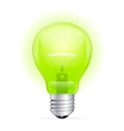 green light bulb isolated on white vector image