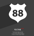 Route 88 highway icon symbol Flat modern web vector image