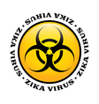 Zika Virus Biohazard Icon vector image