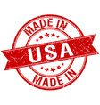 made in usa red round vintage stamp vector image