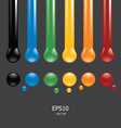 button ink color vector image